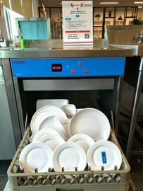 China Small Restaurant Commercial Undercounter Dishwasher Dispenser inside Stainless Steel supplier