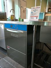 China 850H 600W 630D Stainless Steel Undercounter Dishwasher ECO-T1 for Lobby bar supplier