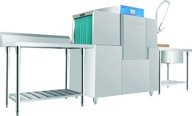 China Stainless Steel Rack conveyor dishwasher ECO-M140 10KW / 46KW for Restaurant supplier