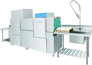 China Stainless Steel Rack conveyor dishwasher ECO-M260PH 20KW / 56KW for Restaurant supplier