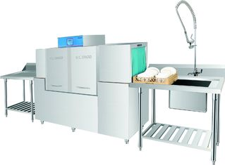 China ECO-M190P Rack conveyor dishwasher Stainless Steel Dispenser inside supplier
