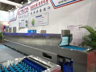 China 56KW / 92KW Stainless Steel Commercial Dishwasher 1900H 9600 W850D for Restaurants supplier