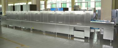 China Long chain Stainless Steel Commercial Dishwasher ECO-L960CP3H3 56KW / 92KW for Staff Restaurants supplier