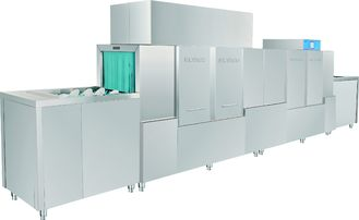 China 42KW / 78KW Hotels Stainless Steel Commercial Dishwasher Dispenser inside supplier