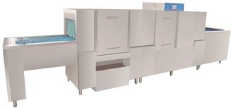 China 25KW/61KW Hotels usage Long chain dishwasher ECO-L540CP2 Dispenser inside supplier