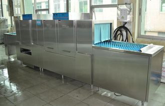 China ISO Stainless Steel Commercial Dishwasher 1600H 5400W 850D Dispenser inside supplier