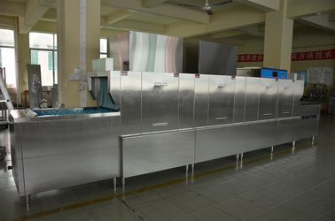 China Dispenser inside  Stainless Steel Long chain dishwasher ECO-L580P2H2 for Central kitchen supplier