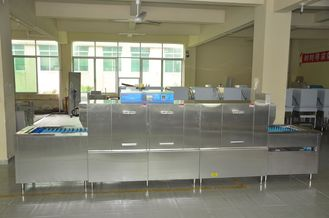 China Restaurant Kitchen Dishwasher 25KW / 61KW ECO-L510P3 Dispenser inside supplier