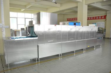 China Central kitchen  Kitchenaid Commercial Dishwasher 34KW / 70KW 60-75 ℃ Wash supplier