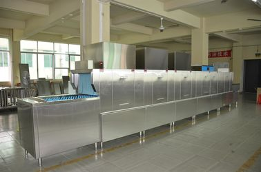 China ISO Flight Type Dishwasher 1900H 8100W 850D Dispenser inside for Staff canteens supplier