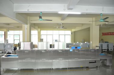 China Stainless Steel Flight Type Dishwasher Reasonable Wash And Rinse Arm Design supplier