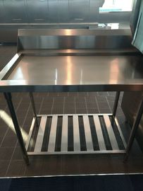 China Kitchenaid Dishwasher Parts , Stainless Steel 304 Exit Table  for Dishwasher Machine supplier