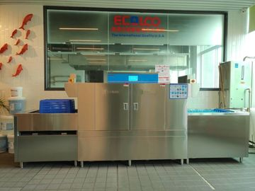 China Compact Commercial Dishwashing Station / Open Door Professional Kitchen Dishwasher supplier