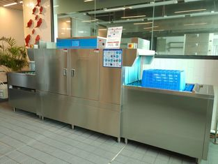 China High Temperature Flight Type Dishwasher With Touch Screen Intelligence Control supplier