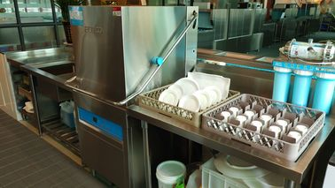 China Dispenser Inside Commercial Dishwashing Station , Commercial Grade Dishwasher supplier
