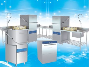 China Stainless Steel Commercial Dish Machine / Large Commercial Dishwasher supplier