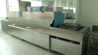 China Staff Canteens Flight Type Dishwasher With Magnetic Push Open Doors supplier