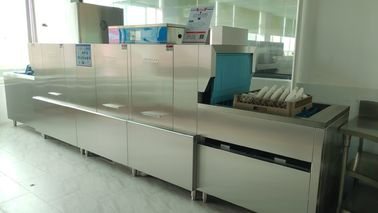 China Custom Made Flight Type Dishwasher With High Power Wash Water Pump 2×2.4 KW supplier