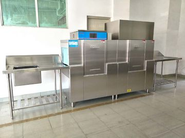 19.8KW / 46.8KW Rack conveyor dishwasher ECO-M210PH , Restaurant Grade Dishwasher