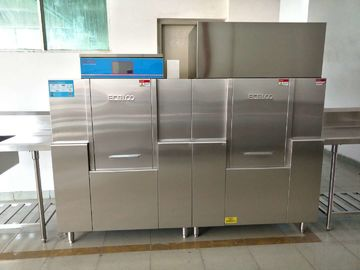 ISO Commercial Dishwashing Machine , Commercial Dishwashing Equipment 19.8KW / 46.8KW