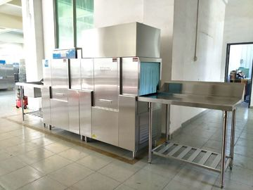Stainless Steel Hotel Dishwasher Machine , Commercial Kitchen Dishwasher