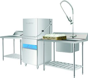 6.5KW / 11KW Hood type dishwasher  for Restaurants / Staff canteens