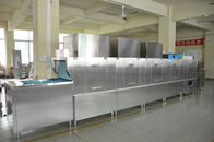 SS Restaurant Kitchen Dishwasher , Automatic Dishwashing Machine 36kw Rinse Heater