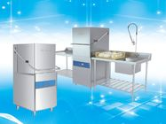 Polished Surface Hood Type Dishwasher With Rinse Temperature Control System